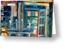 Window Abstract Greeting Card