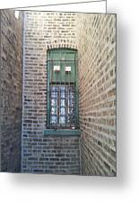 Window Against The Wall Greeting Card