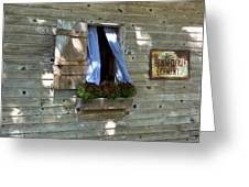 Window And Flowerbox Greeting Card