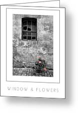 Window And Flowers Poster Greeting Card