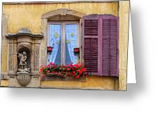 Window And Sculpture Greeting Card