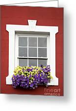 Window And Walls Triptych - Canvas 2 Greeting Card
