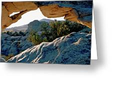 Window Arch City Of Rocks Idaho Greeting Card