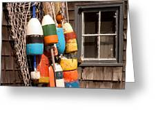 Rockport Buoy View Greeting Card