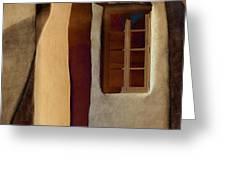 Window De Santa Fe Greeting Card by Carol Leigh