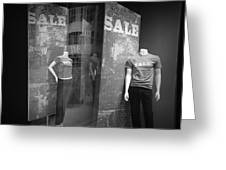 Window Display Sale With Mannequins No.1292 Greeting Card