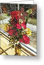 Window Flowers Greeting Card