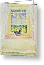 Window Geese Greeting Card