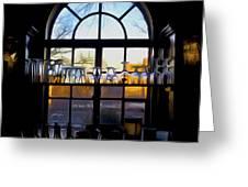 Window In A Bar Greeting Card