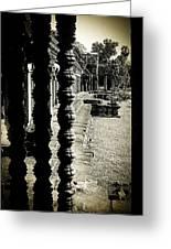 Window In Angkor Wat Greeting Card