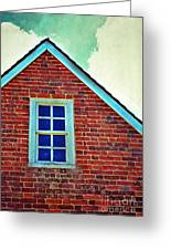 Window In Brick House Greeting Card