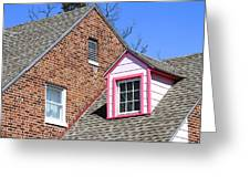Window In Pink Greeting Card