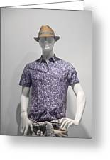Window Mannequin 5 Greeting Card