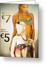 Window Mannequin 6 Greeting Card