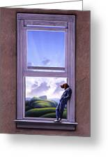 Window Of Dreams Greeting Card by Jerry LoFaro
