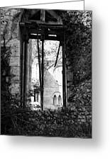 Window Of Haunted Abbey Greeting Card