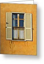 Window Of Rome II Greeting Card