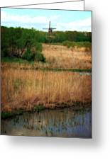 Window On The Waterfront Dezwaan Windmill Greeting Card