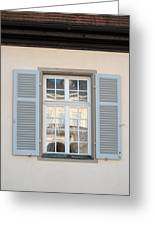 Window Opposite Palace Of The Solitude In Stuttgart - Germany Greeting Card