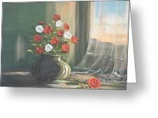 Window Roses Greeting Card