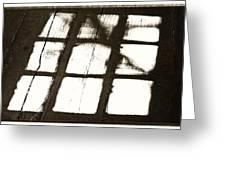 Window Shadow Greeting Card