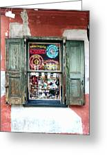 Window Shop Greeting Card by Kenneth Feliciano