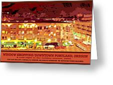 Window Shopping Holiday Season Greeting Card