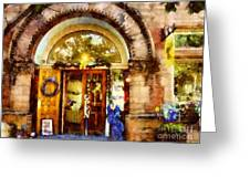 Window Shopping  Greeting Card by Janine Riley