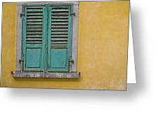 Window Shutter Greeting Card