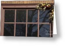Window Swag In Williamsburg Greeting Card