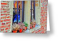 Window To Antwerp Greeting Card