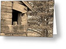 Window To Nowhere - Sepia Greeting Card