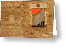 Window To Nowhere Greeting Card