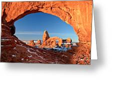Window To Turret Arch Greeting Card
