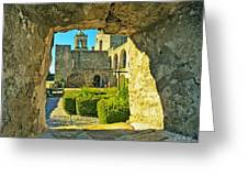 Window View Of Mission Greeting Card