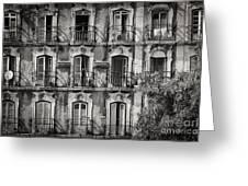 Windows And Balconies 2 Greeting Card