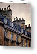 Windows And Chimneys Greeting Card