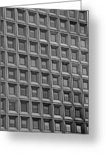 Windows In Black And White Greeting Card