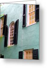 Windows In Charleston Greeting Card