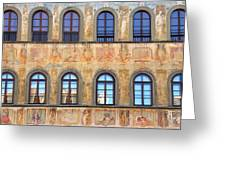 Windows In Florence Greeting Card