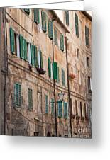 Windows In Tuscany Greeting Card