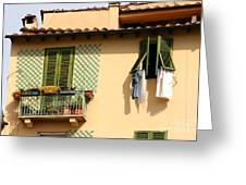 Windows, Italy Greeting Card