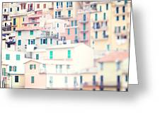 Windows Of Cinque Terre Italy Greeting Card by Kim Fearheiley