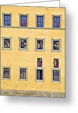 Windows Of Florence Greeting Card