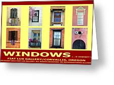 Windows Of Opportunity Greeting Card