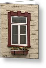Windows Of Quebec 1 Greeting Card