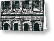 Windows Of The Porta Nigra Greeting Card