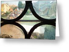 Windows Of Venice View From Art Academy Greeting Card