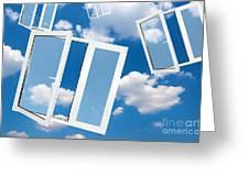 Windows To New World Greeting Card