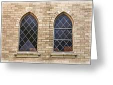 Windows Within The Catholic Walls Greeting Card